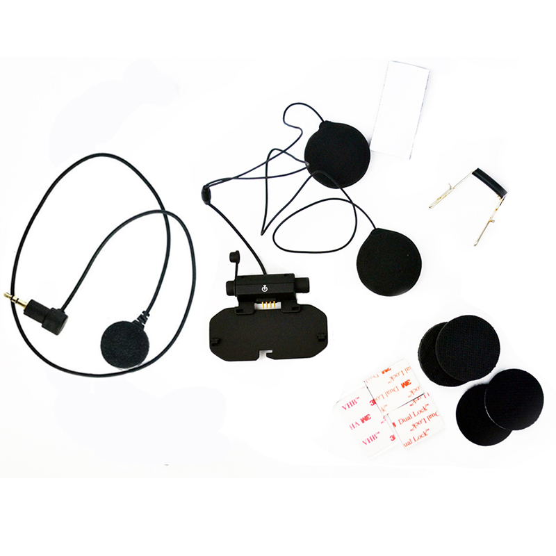 Original Motorcycle Bluetooth Helmet Headset Base Accessories Kit Soft Earphone Earpiece Mic For Vimoto V8 Full Face Helmet