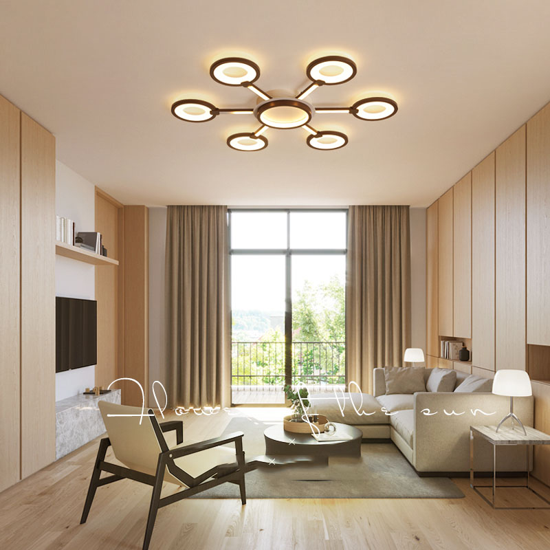 Acrylic modern ceiling lamp is suitable for living room bedroom coffee color sunflower LED ceiling lamp family lighting AC85-260Acrylic modern ceiling lamp is suitable for living room bedroom coffee color sunflower LED ceiling lamp family lighting AC85-260