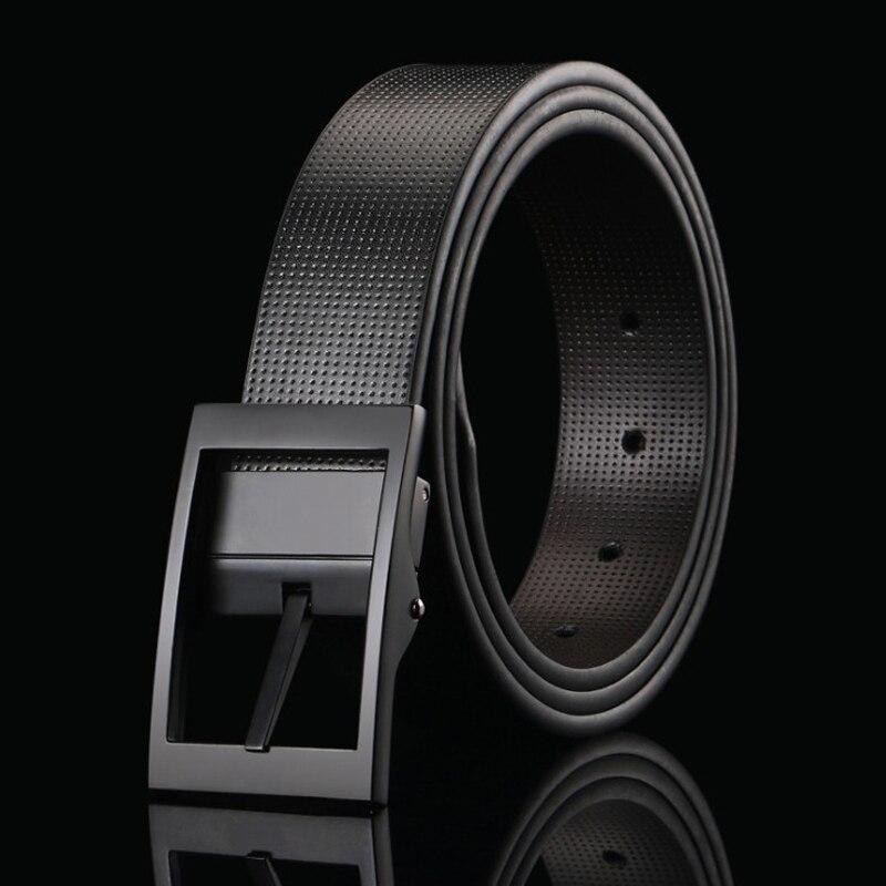 Men's Belts El Barco New Cowhide Leather Men Belt High Quality Luxury Designer Black Male Belts Brown Coffee Pin Buckle Waist Strap Size 125 Elegant In Style