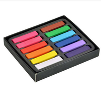 12 Colors Set Hair Chalk Soft Hair Crayons Pastel Kit Temporary Chalk Dye Beauty Hair Color
