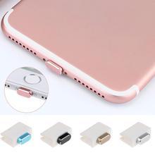 Металлическая кожа PC зарядное устройство Порт Анти заглушка от пыли стопор крышка для IPhone 7