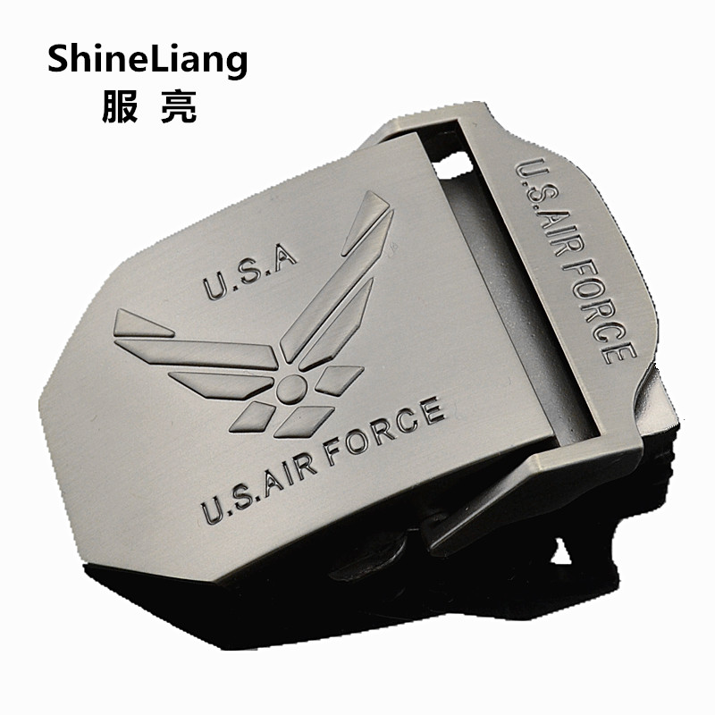 2018 Men's Tactical Belt Buckle Alloy Material U.S AIR FORCE Logo Suitable For Military Canvas Width 3.8CM Designer High Quality