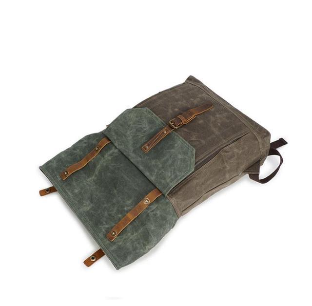 Backpack, crazy horse leather bag, vintage travel canvas bag, waterproof backpack pinepoxp bag
