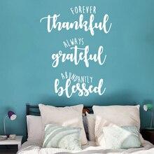 Plane Sticker thankful grateful blesssd Family Wall Stickers Mural Art Home Decor Living Room Bedroom vinilo decorativo