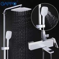 Grifos de ducha de GAPPO juego de ducha de lluvia montado en la pared grifo mezclador ducha bañera cascada baño grifo ducha