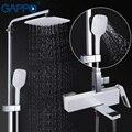 GAPPO смесители для душа набор для душа с дождевой насадкой настенный смеситель для ванной комнаты душевая кабина Ванна Водопад ванна кран grifo...