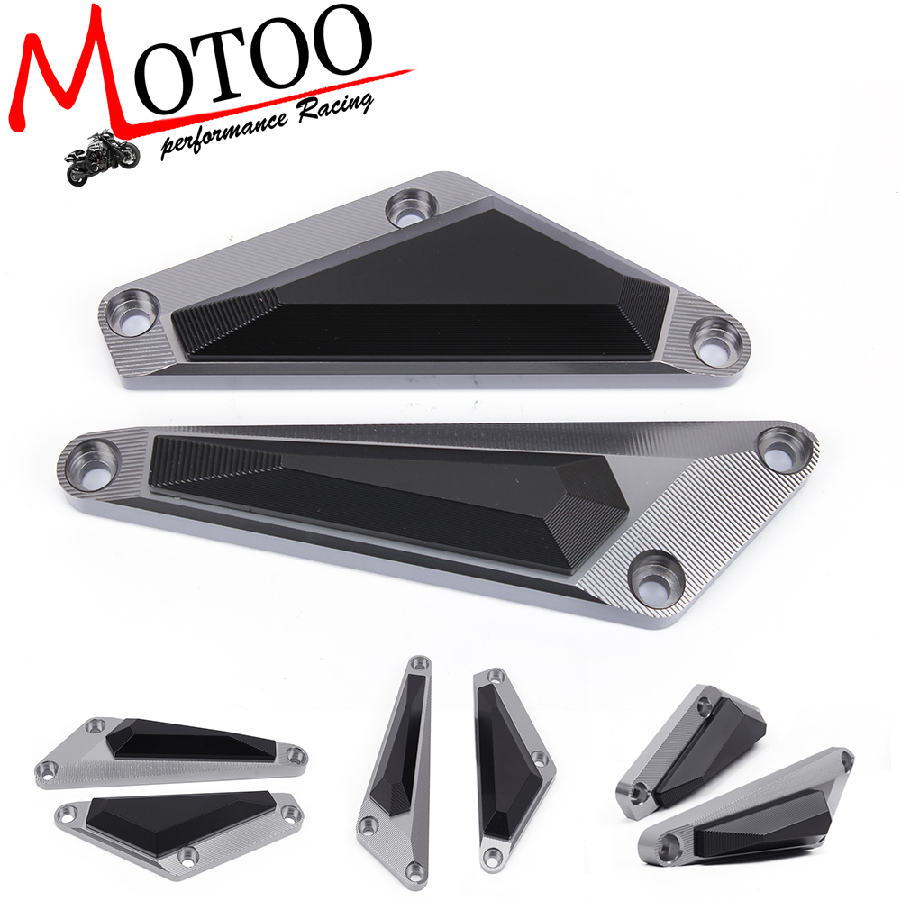 цена на Motoo - Motorcycle Frame Slider Engine Stator Case Guard Cover Protector For Yamaha MT07 MT-07 2014 2015 2016