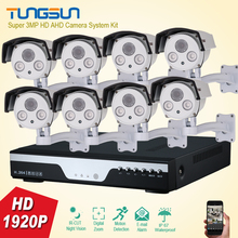 New Super 8CH 1920P Best Night Vision Security Camera System IR Array Bullet CCTV System Kit 3MP 8 Channel Video Surveillance