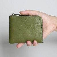 Mini Wallet For Men Women Unisex Slim Travel Light Portable Small Purse Girls Solid Genuine Leather