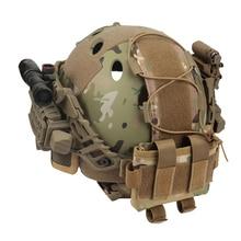 Тактический шлем батарейный чехол MK2 шлем батарейный блок Быстрый Шлем Баланс Вес сумка для страйкбола охота Спорт на открытом воздухе