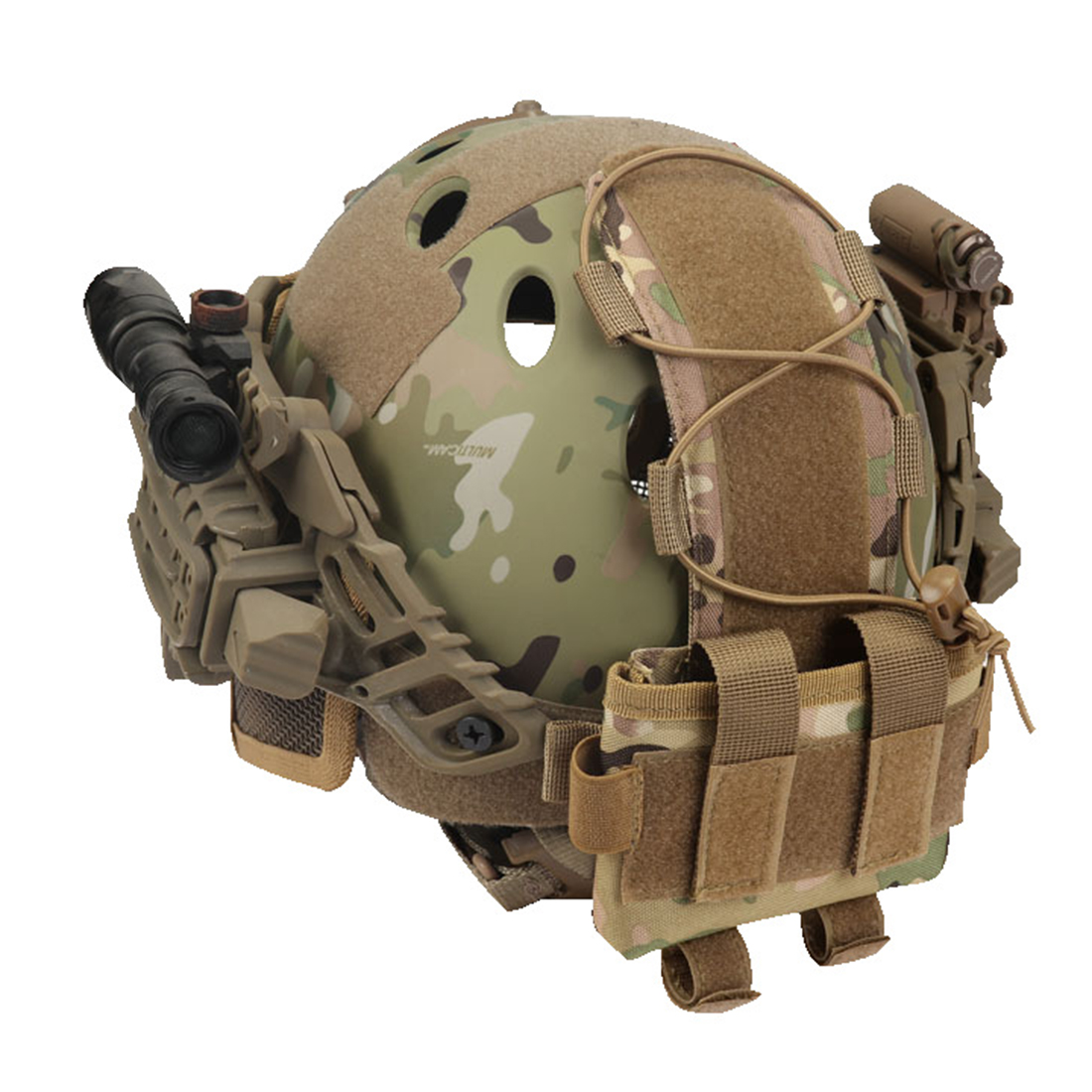 Tactical Helmet Battery Pouch MK2 Helmet Battery Pack FAST Helmet Balance Weight Bag For Airsoft Hunting Outdoor Sports