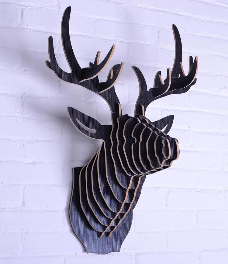 Deer Head Wall Art popular wood deer wall decor-buy cheap wood deer wall decor lots