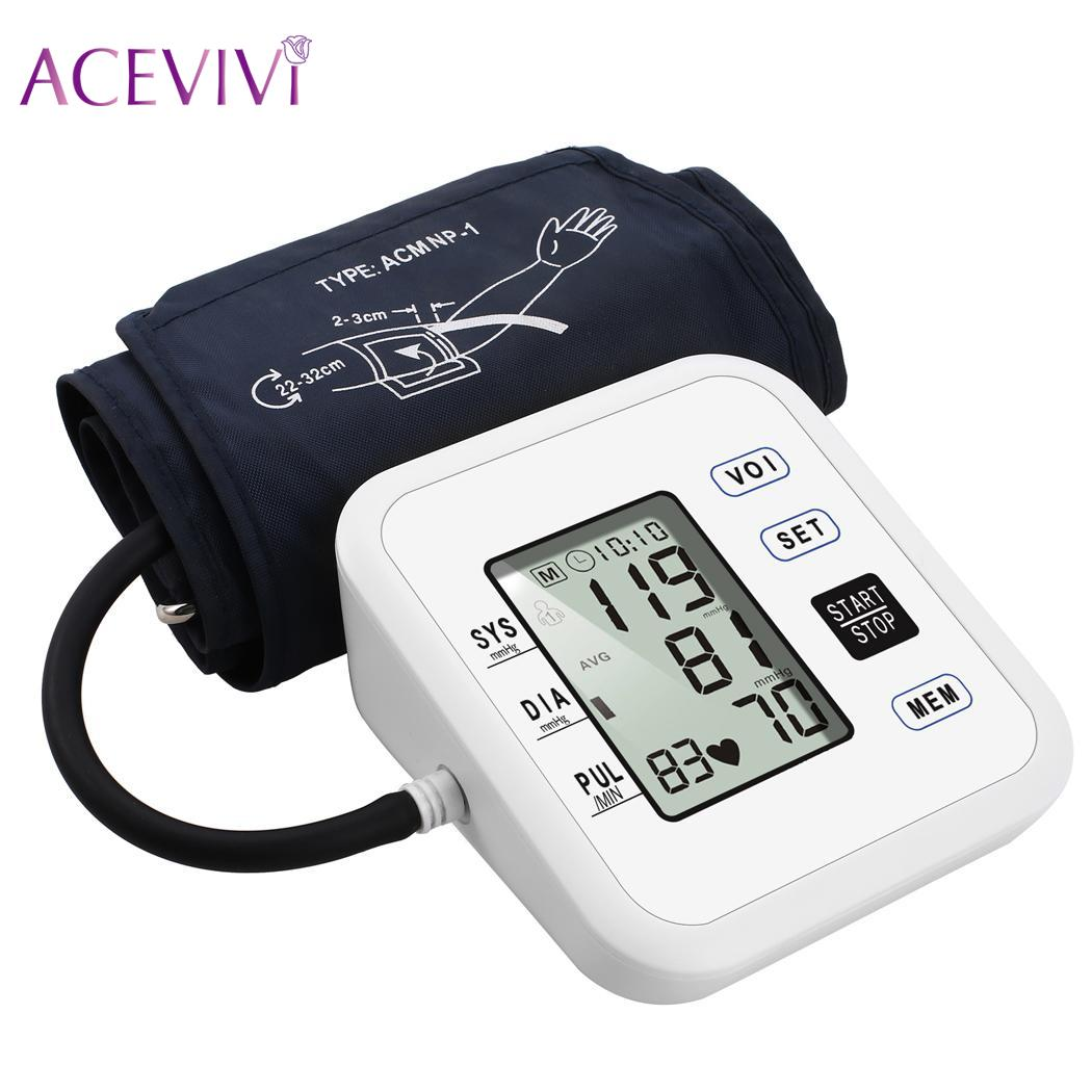 ACEVIVI Pressure Medical Upper Arm Blood Pressure Monitor Family Expenses Blood New Monitor