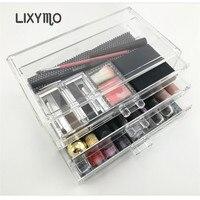 Lixymo化粧品メイクジュエリー3層3大きな引き出しオーガナイザー収納ディスプレイスタンドケースラックホル