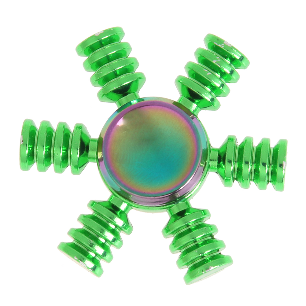 Hexagonal Fidget Spinner Metal Finger EDC Hand Spinner Green For Autism and ADHD Relief Focus Anxiety Stress Wheel Toys Gifts  colorful round fire wheel edc fidget spinner metal hand spinner for autism and adhd relief focus anxiety stress gift finger toys