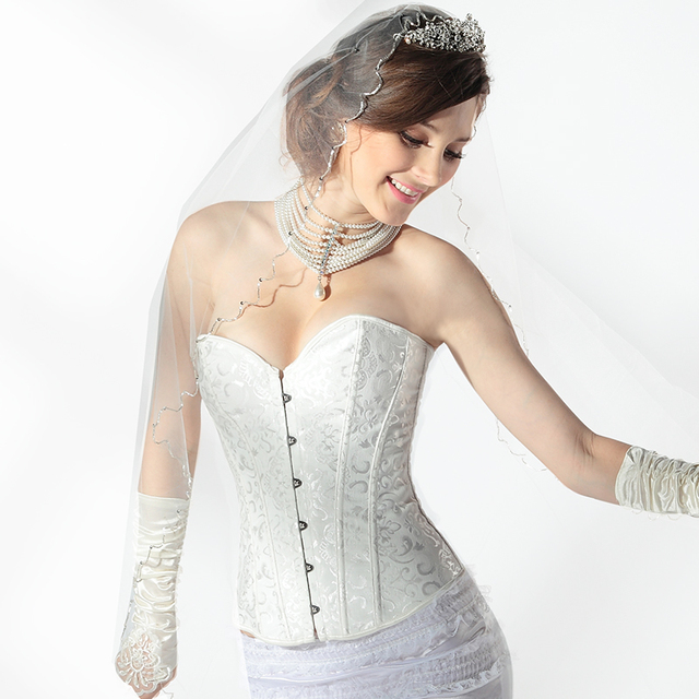 Women lady bridal body sculpting bride corset wedding underwear lace women lady bridal body sculpting bride corset wedding underwear lace flower patterned thin summer junglespirit Choice Image