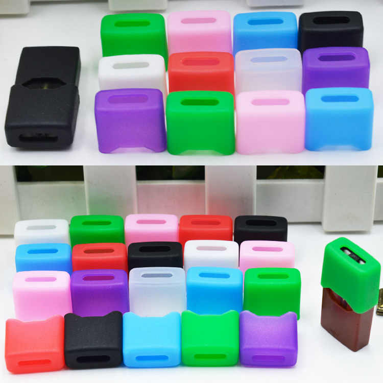 10pcs/lot disposable silicon test drip tip cap clean food grade colourful  dustproof cap for juul ecig vape accessories