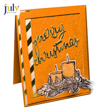 Julyarts Cutting Dies and Stamps Scrapbooking Metal 2019 Candle Festival Card Cover DIY Making Templates
