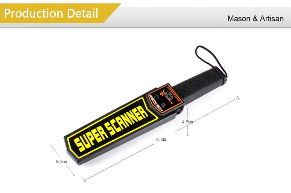 Купить Ручной Портативный Металлоискатель Сканер для Досмотра Металла Finder Анализатор дешево