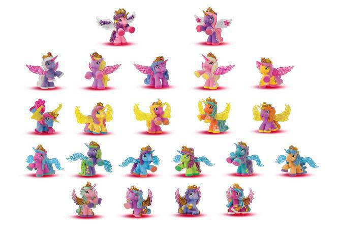 O for U HOT Original Flocking Filly Horses Filly Stars With Wings Series Little Horse Dolls