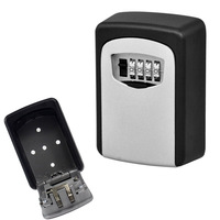 Key Storage Lock Box Wall Mount Holder 4 Digit Combination Safe Outdoor Security LCC77