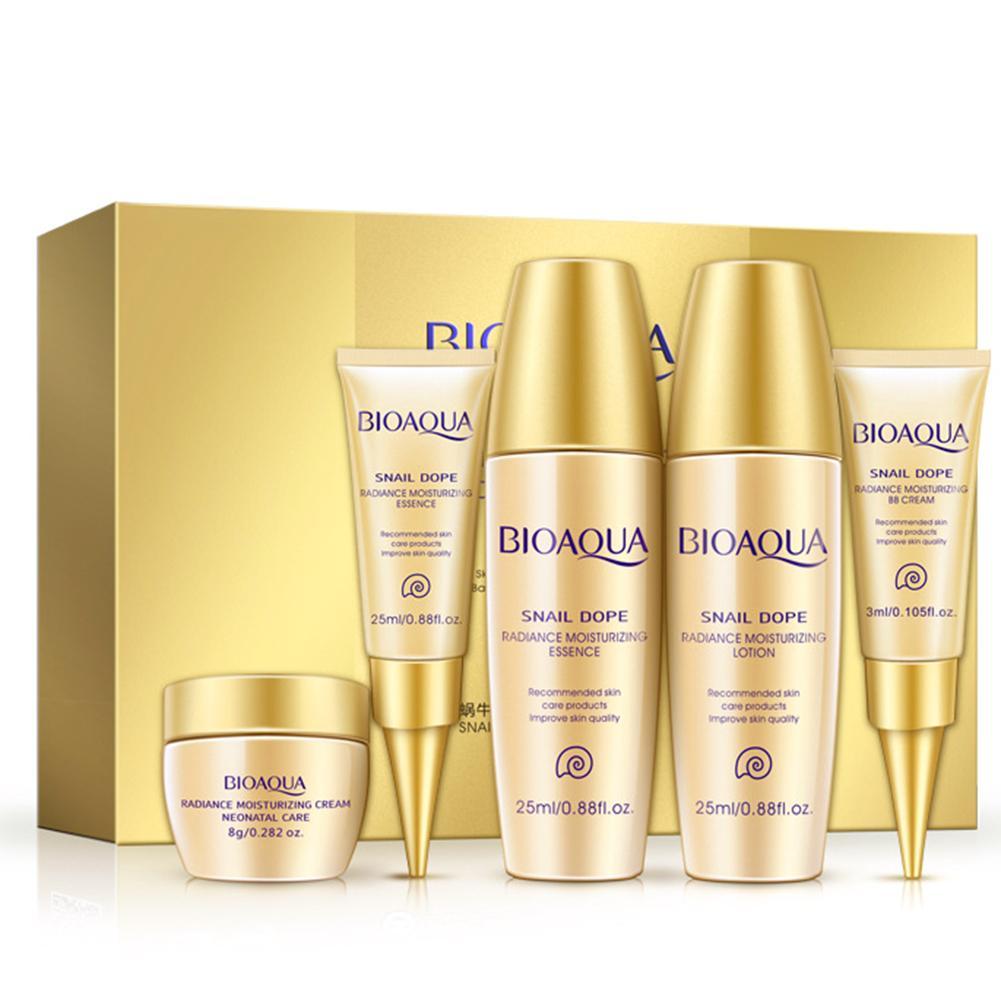 Lotion Serum Snail-Extract Skin-Care-Kits Bb-Cream Toner-Eye Travel-Size Moisturizing