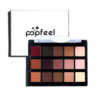 Brand popfeel 15 Colors Eye Shadow Makeup Naked Eyehsadow Palette Powder Cosmetic Set camouflage Glitter Nude Matte Make Up