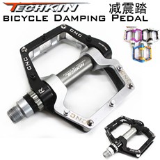 Factory production10321 HOT  bicycle pedal mountain bike pedal techkin aluminum alloy belt slip-resistant foot