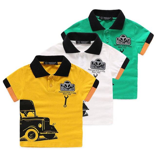 Детская одежда от имени летом носить с короткими рукавами Футболки хлопок Футболки мальчиков оптом детская Корейский ПОЛО шир