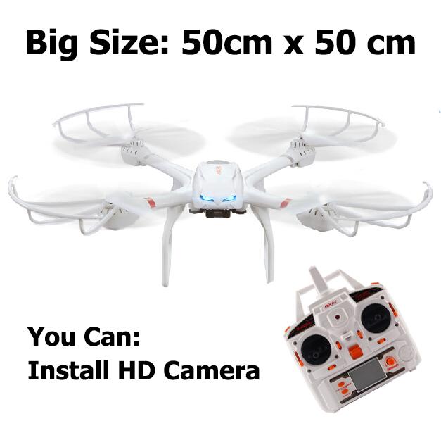 Profesión Drones Quadcopter MJX X101 2.4G 6-Axis RC Helicóptero con Cardán Puede Instalar C4005 FPV Wifi Cámara VS X600