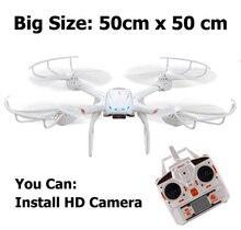 Profession Drones MJX X101 Quadcopter 2.4G 6-Axis RC Hélicoptère avec Cardan Peut Installer C4005 FPV Wifi Caméra VS X600
