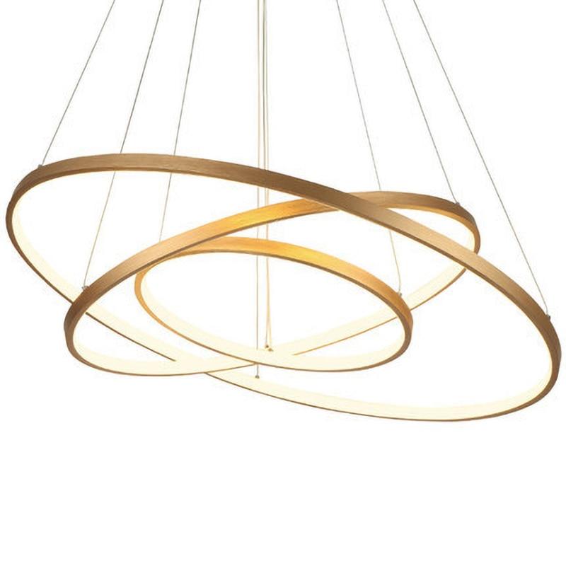 Modern Remote LED Rings Circle Pendant Lights LED Luminaire Suspendu Lighting Industrial Lamp For Living Room Dining Room