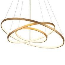 LED à distance moderne anneaux cercle pendentif lumières LED luminaire suspendu éclairage lampe industrielle pour salon salle à manger