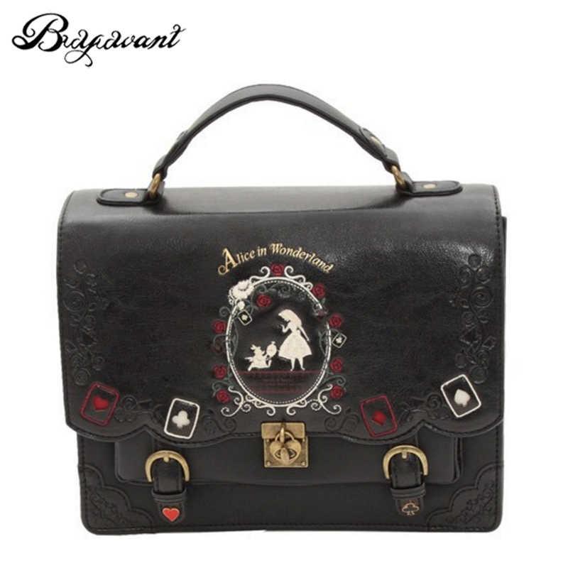 magasin en ligne ea33a 47a22 Buyuwant women backpack girl Alice bag in Wonderland school backpack bag  women shoulder bag sac a dos Mochila bolsos