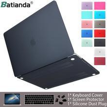 Чехол для ноутбука apple Macbook Air Pro retina 11 12 13 15 16 матовый чехол для macbook Air Pro Touch Bar ID Чехол для клавиатуры