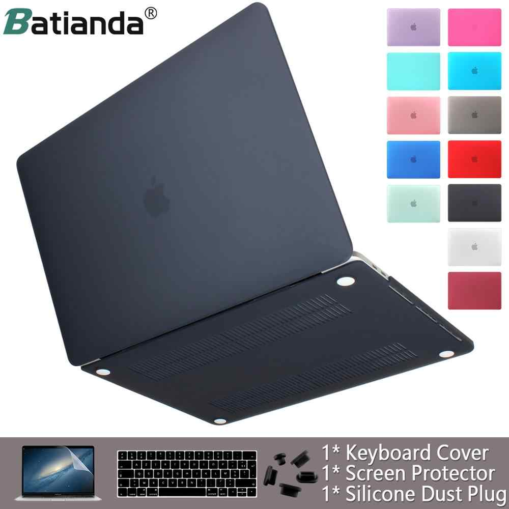 Laptop Case Voor Apple Macbook Air Pro Retina 11 12 13 15 16 Matte Afwerking Cover Voor Macbook Air Pro touch Bar Id Toetsenbord Cover