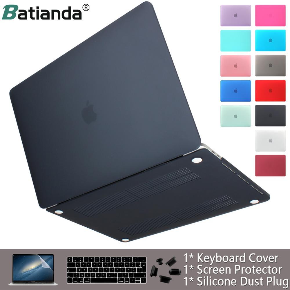 Caso do portátil para apple macbook ar pro retina 11 12 13 15 16 acabamento fosco capa para macbook ar pro barra de toque id teclado capa