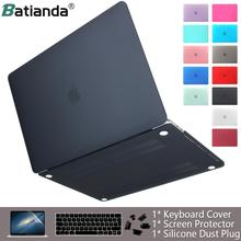 Laptop Case for apple Macbook Air Pro Retina 11 12 13 15 16 Matte Cover for macbook Air Pro Touch Bar ID Keyboard Cover