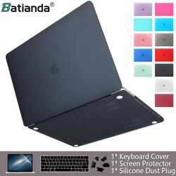 Funda de ordenador portátil para apple Macbook Air Pro Retina 11 12 13 15 cubierta de acabado mate para macbook New Air Pro Touch Bar ID teclado cubierta