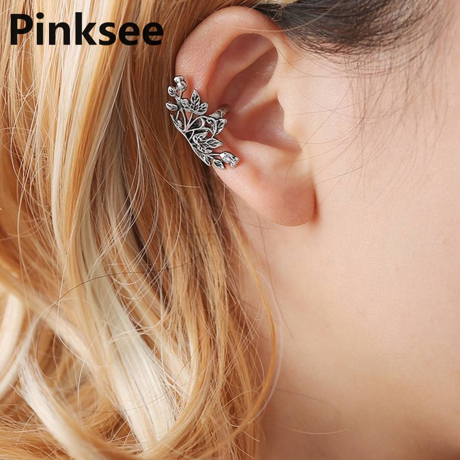 Jewelry & Accessories Sell By Piece Vintage New Arrival Retro Silver And Gold Punk Style Do The Old Design Butterfly Clip Earrings Without Piercing Clip Earrings