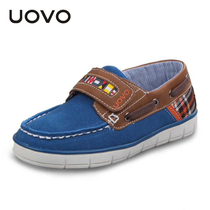 UOVO Kids Shoes Tenis Infantil Cow Suede Boys Shoes Children Boys Boat Shoes 2017 Little Babys Loafers Fashion and High Quality