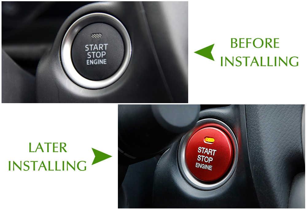 רכב סטיילינג מדבקת אביזרי Fit עבור מאזדה 3 BM BN 6 GJ1 GL CX4 CX5 CX 5 Axela CX3 Atenza מנוע להתחיל כפתור אוטומטי טבעת