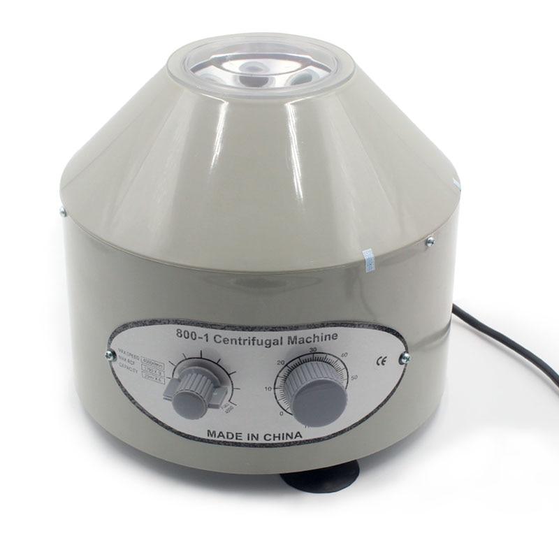 800-1 Électrique Centrifugeuse De Laboratoire Médical Pratique machine Fournitures prp Isoler sérum 4000 rpm 1760g 6 pcs 20 ml tube à centrifuger
