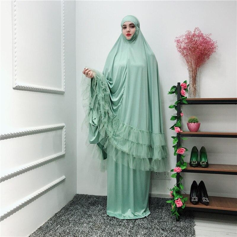 Ramadan Robe Abaya Dubai Turkey Islam Hijab Muslim Dress Kaftan Abayas For Women Qatar Caftan Prayer Clothing Tesettur Elbise