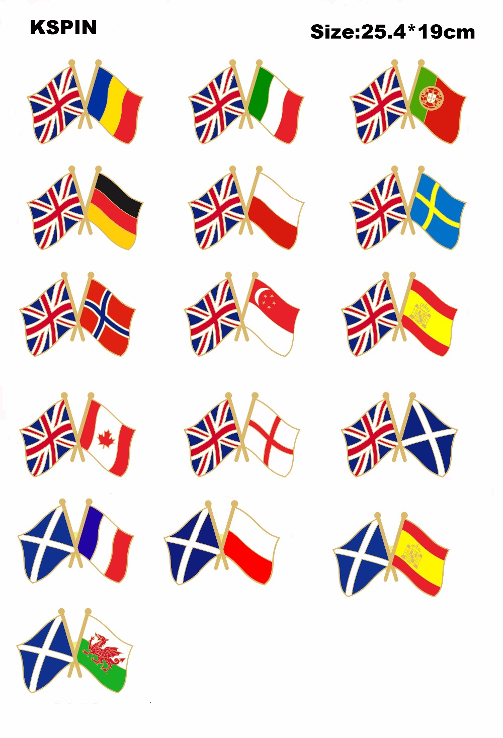 Uk Friendship Flag Badge Lapel Pin Pin 100pcs A Lot Rich In Poetic And Pictorial Splendor Badges