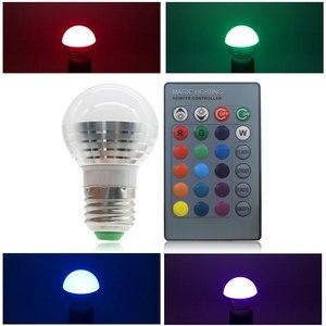 Image 4 - E27 E14 หลอด LED RGB 16 สี Magic LED Night Light 85 265V หลอดไฟ LED หรี่แสงได้ STAGE LIGHT/24key รีโมทคอนโทรล Holiday ไฟ