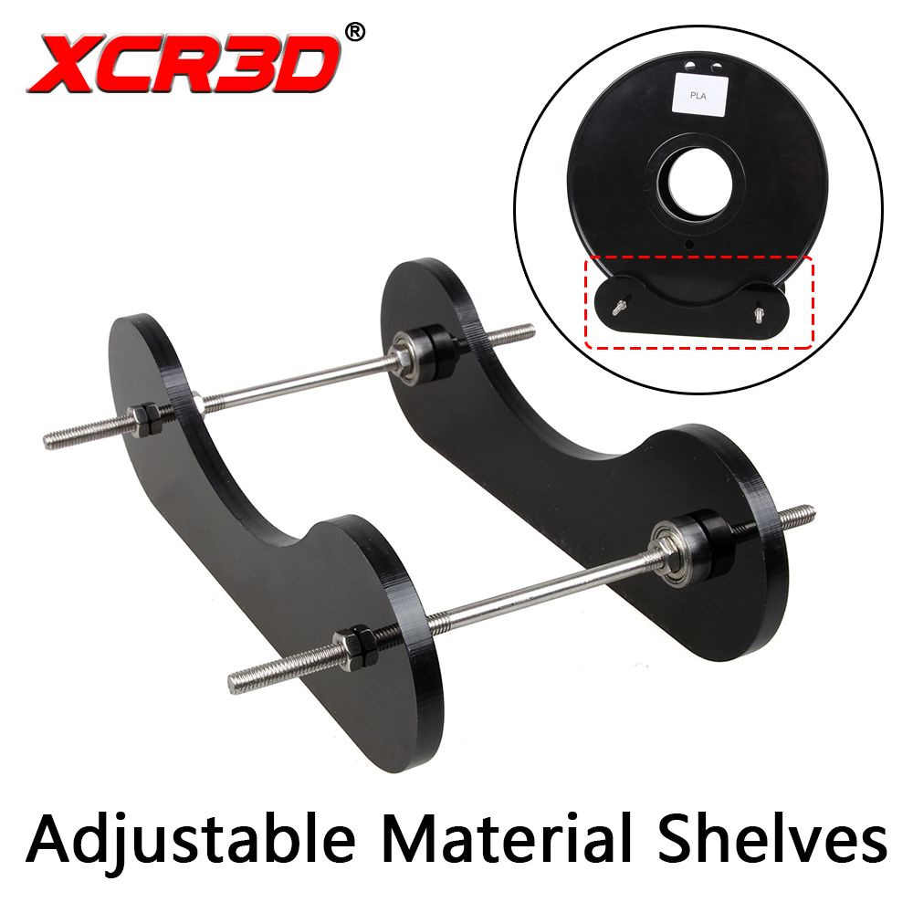 XCR3D 3D Printer Universal Adjustable Material Shelves Supplies Fixed Seat Acrylic Desktop Machine Wire Frame Holder For PLA/ABS цена 2017