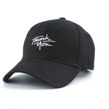 2019 New letter Baseball Caps THANK YOU Embroidery Hip Hop bone Snapback Hats For Men Women Adjustable Black Cap Gorras