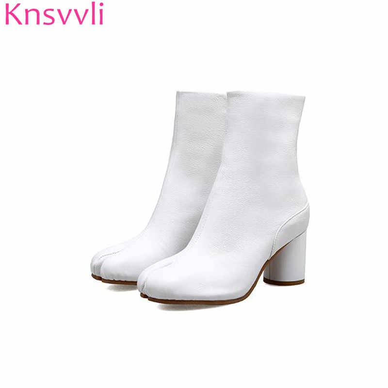 round heel ankle boots
