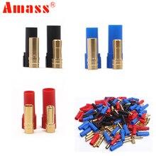9 пар/лот AMASS XT150 коннектор адаптер штекер 6 мм золото Банановая пуля штекер